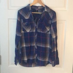 Purple Plaid Flannel Shirt from PacSun